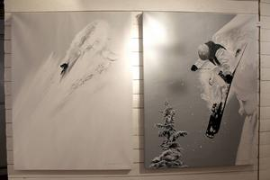 På Konsthuset i Åre återfinns Sofia Ohlsén vintersportmotiv.
