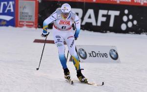 Calle Halvfarsson var snabbast av de svenska åkarna i kvalet men missade precis finalplatsen och slutade åtta i premiären. Foto: Nisse Schmidt/DT