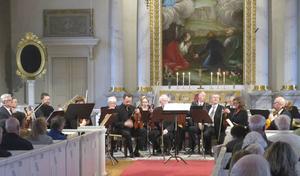 Ljusdals kammarorkester i Färila kyrka på lördagskvällen.