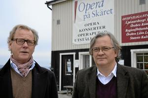 Sten Johannisson och Sten Niclasson är övertygade om Opera på Skärets attraktionskraft nationellt och internationellt. De ser varje satsning som ett steg att stärka varumärket.