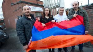 På torsdag arrangeras en manifestation för att hedra offren i folkmordet 1915. Varojan Milkonian, Lamia Milkon, Antoine Simon Hovig och Lorans Sharoyan deltar.