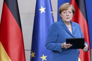 mäktig men svår att förstå. Tyskland och Angela Merkel får mer makt i EU, men tyskan tappar mark i Sverige. Foto: AP/TT