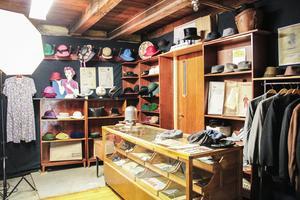 En gammaldags modebutik visades på kulturhistoriska festivalen Det hvar på tiden, med tema mode.