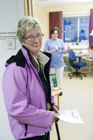 Elvy Olsson, Falun: Jag kommer mig sällan för att besöka vårdcentralen annars, nu får jag kolla allt på en gång.