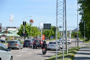 En ny rondell byggs i korsningen mellan Max och järnvägsstationen.