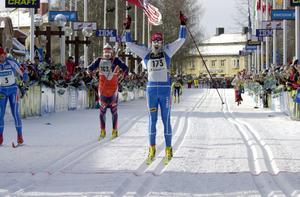 Henrik Eriksson vinner Vasaloppet 2001. Det var senaste gången segern gick till IFK Mora.