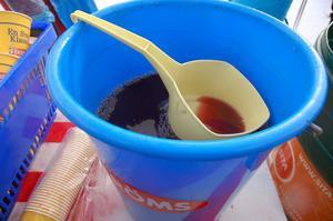 Två kubik blåbärssoppa fick åt bara i Evertsberg under Öppet spår på måndagen.
