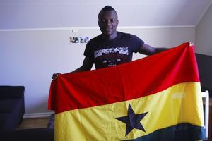 Thomas Boakye är stolt ghanan och ser fram emot sommarens VM-slutspel där Ghana möter tufft motstånd i form av Portugal, USA och Tyskland. Kanske med kompisen David Accam i truppen.