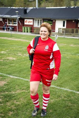 Madelene Sjögren, spelande tränare i Stöde IF