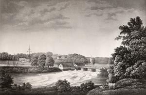 Detta är Fagersta år 1859. Herrgården låg på det som i dag är Andra sidan. Under denna tid ägde tobaks- och sockerfabrikören Fagersta.