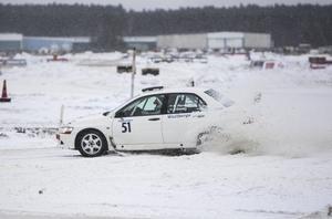 Patrik Åkerman, Ljusdals MK, startar också i helgens SM-rally i Östersund.