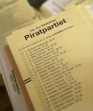 Sju procent av svenskarna kan tänka sig att rösta på Piratpartiet.