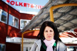 Sara Mohammad föreläste på Folkets hus i Östersund.  Foto: Anna-Karin Pernevill
