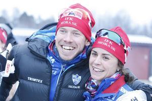 Familjeglädje trots vingel med chipet blev det för Anna Haag som åkte på Emil Jönssons chip, men det gjorde inget – Anna var rask i spåret och blev trea.