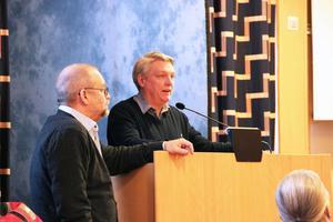 Mikael Sagström och Stefan Lindkvist, Ljusdals IF, fick bifall för en bidragsansökan till finansiering av den framtida fotbollshallen.
