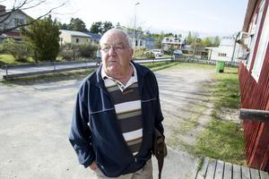 Rolf Eriksson kom för att berätta hur viktigt det är att Sågverkstrampet knyter samman fler orter.
