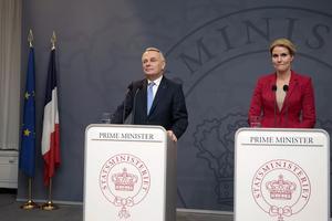 Högst skatter. Fanmark och Frankrike, här representade av statsminister Helle Thorning Schmidt och premiärminister Jean-Marc Ayrault, har högre skatteryck än Sverige.Foto: TT
