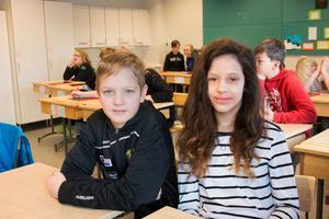 Melvin Hellström och Elin Gustafsson är de tävlande kandidaterna från klass 5A på Mariaskolan.