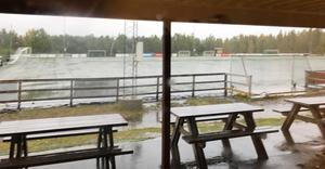 Så här såg det ut på Billerud Kornäs Arena när BK30 anlände.