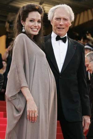 huvudpersoner. Den höggravida Angelina Jolie och Clint Eastwood var huvudpersoner på vårens Cannesfestival.