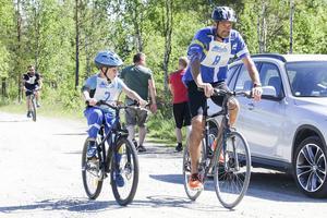 Linus och Anders Danielsson cyklade Tännäsklassikern.