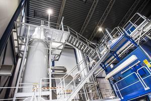 Ljusdal energis nya fjärrvärmepanna och rökgaskondensator i Sjulhamre.