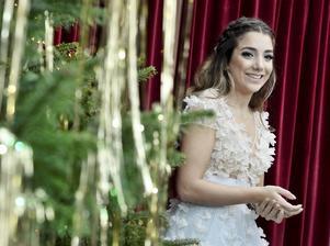 Gina Dirawi ledde julfirandet i SVT.