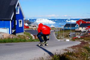 Johan Wadsten på plats på Grönland.