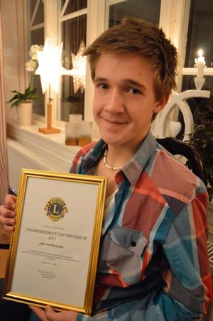 Joel Andersson, glad stipendiat