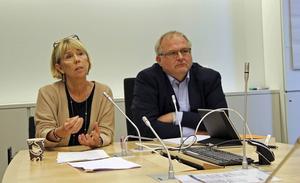 Indelningskommitténs ordförande Barbro Holmberg och vice ordförande Kent Johansson.