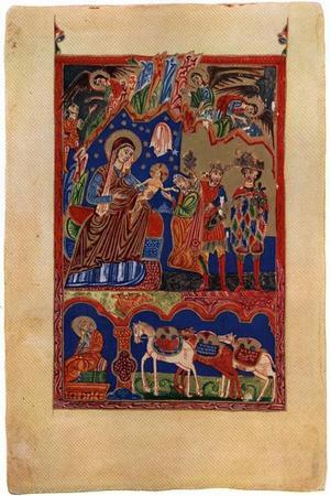 Kyrkohandbok, utförd i Artske år 1460. 31,5 x 21,5 centimeter.