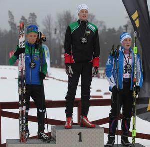 Jesper Persson pallplats i såväl distans, sprint och skicross. Här blev han tvåa i sprint.