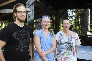 Marcus Nyström, Josefin Modig och Ida Engberg ser fram emot att få höra Loke.