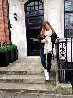 Olivia Lilja trivs bra som au pair i London.