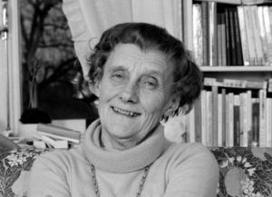 Astrid Lindgren hemma i Vasastan 1978.