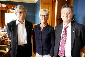 Kyioshi Kobayashi, Yvonne von Friedrichs och Hans Westlund.
