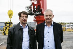Ilpo Heikkilä, vd, och Hans Sahlin, konstruktionschef, MacGregor.
