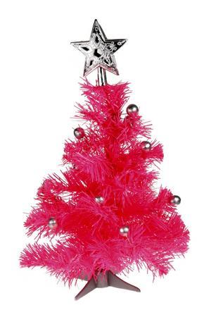 Varför nöja sig med en skogsgrön gran? Den här rosa minigranen sätter diskoprägel på julen. 85 kronor kostar den på Coolstuff.se.Foto: Coolstuff.se