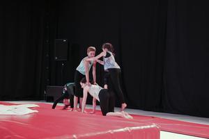 Akrobatikgruppen visat vad de kan.