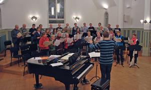 Kyrkokören i Leksand repeterar Mozarts Requiem inför konsert med delar av Dalasinfoniettan nästa lördag.