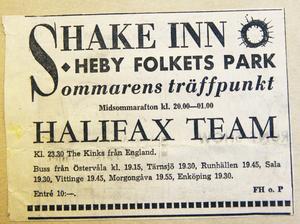 En av bandets mest minnesvärda spelningar var med The Kinks, som fick en undanskymd plats i annonsen.
