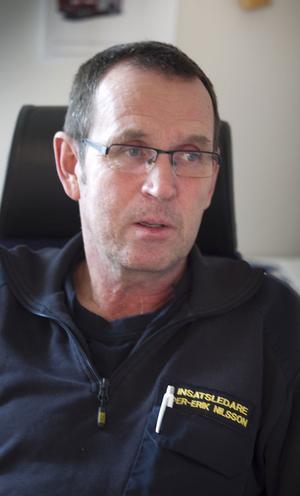 Per-Erik Nilsson arbetar med brandförebyggande arbete bland ungdomar.