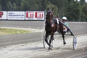 Åke Svanstedt inledde V75-omgången med att köra Rocky Winner till seger.