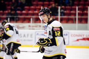 Skadad. En översträckt magmuskel hindrar Fredrik Johansson från spel i Clas Ohlson Cup.Foto: Rune Jensen/Arkiv