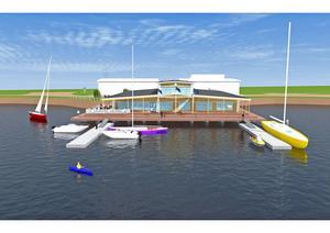 Byggnaden ska ge Hudiksvall en mer inbjudande gästhamn