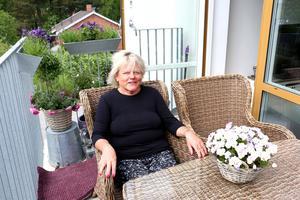 Christina Beiron bytte sin centrala bostadsrätt mot en hyresvindslägenhet.