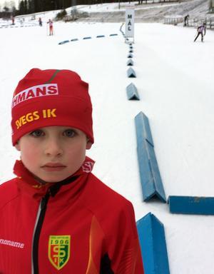 Jonas Matyyuk, Svegs IK, gjorde sin första tävlingsstart i samband med J/H-cup i Östersund.