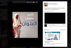 Ett av inläggen där Ali Al-Ganas hyllar Sulaiman Al-Alwan.