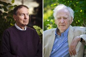 Två storheter inom den svenska poesin: Göran Sonnevi och Lennart Sjögren. Foto: Stefan Tell och Mattias Johansson