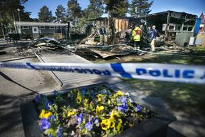 Restaurangbyggnaden på Stenö camping brann ner till grunden en sommarnatt år 2016.
